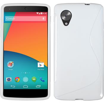 Silicone Case for Google Nexus 5 S-Style white