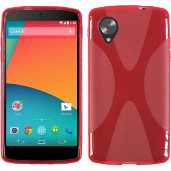 Silicone Case for Google Nexus 5 X-Style red