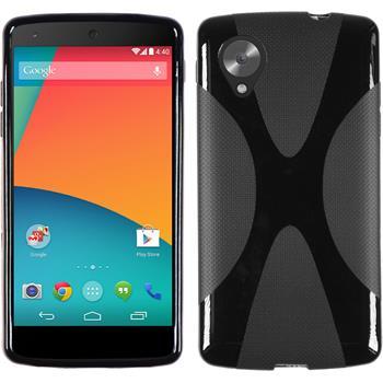 Silikon Hülle Nexus 5 X-Style schwarz