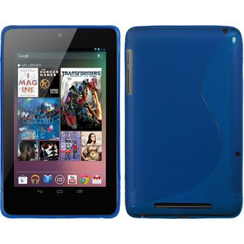 Silicone Case for Google Nexus 7 S-Style blue
