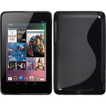 Silicone Case for Google Nexus 7 S-Style black