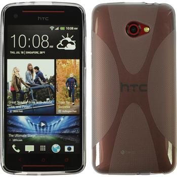 Silicone Case for HTC Butterfly S X-Style gray