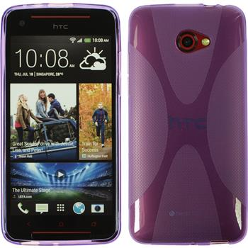 Silicone Case for HTC Butterfly S X-Style purple