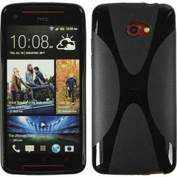 Silicone Case for HTC Butterfly S X-Style black