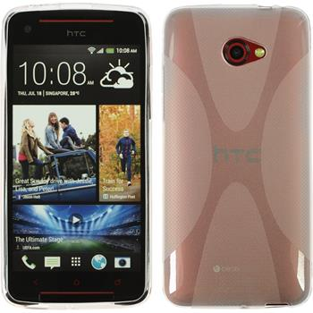 Silicone Case for HTC Butterfly S X-Style transparent
