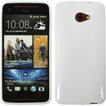 Silicone Case for HTC Butterfly S X-Style white