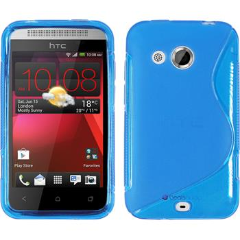 Silicone Case for HTC Desire 200 S-Style blue
