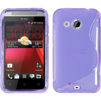 Silicone Case for HTC Desire 200 S-Style purple
