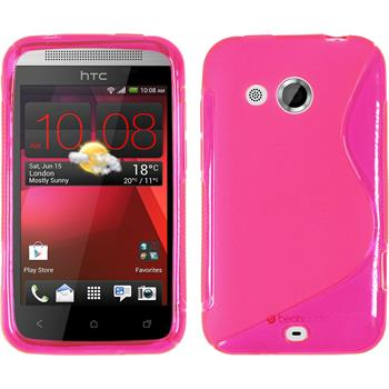 Silicone Case for HTC Desire 200 S-Style hot pink