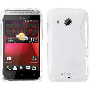 Silicone Case for HTC Desire 200 S-Style transparent