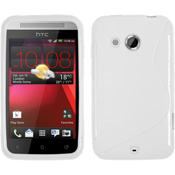 Silicone Case for HTC Desire 200 S-Style white