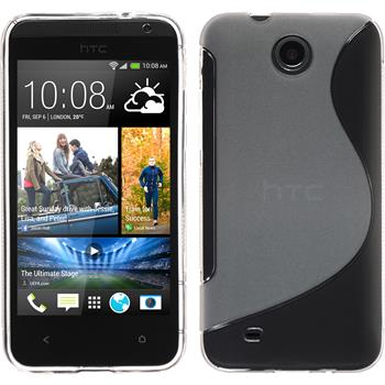 Silicone Case for HTC Desire 300 S-Style transparent