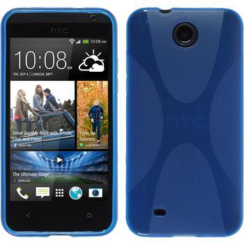 Silikon Hülle Desire 300 X-Style blau
