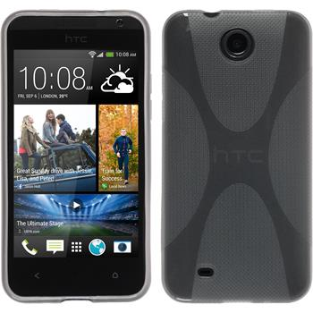 Silicone Case for HTC Desire 300 X-Style gray