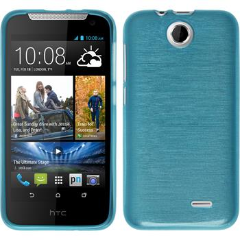 Silicone Case for HTC Desire 310 brushed blue