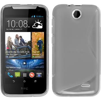 Silicone Case for HTC Desire 310 S-Style gray