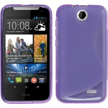 Silikonhülle für HTC Desire 310 S-Style lila