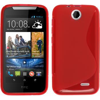Silikonhülle für HTC Desire 310 S-Style rot