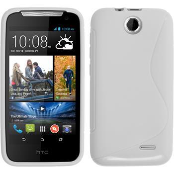 Silikonhülle für HTC Desire 310 S-Style weiß