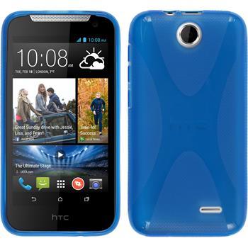 Silikon Hülle Desire 310 X-Style blau