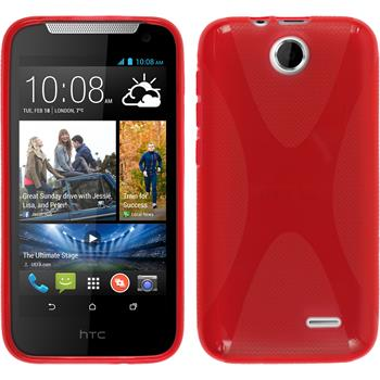 Silicone Case for HTC Desire 310 X-Style red