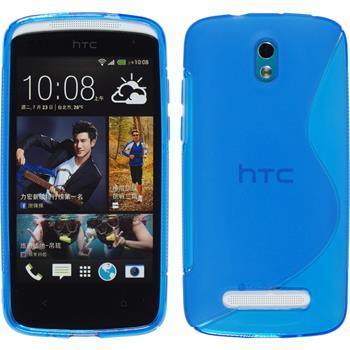 Silikon Hülle Desire 500 S-Style blau