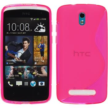 Silicone Case for HTC Desire 500 S-Style hot pink