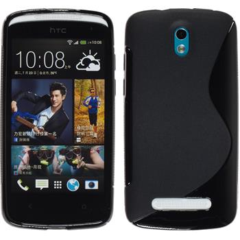 Silicone Case for HTC Desire 500 S-Style black