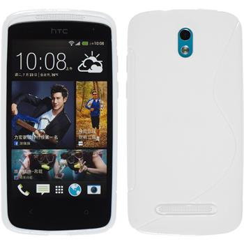 Silicone Case for HTC Desire 500 S-Style white