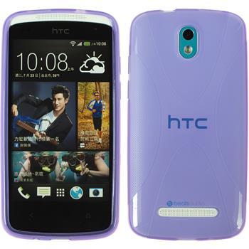 Silicone Case for HTC Desire 500 X-Style purple