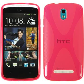 Silicone Case for HTC Desire 500 X-Style hot pink