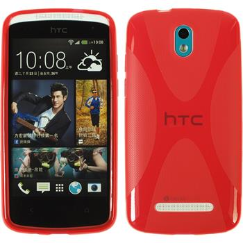 Silicone Case for HTC Desire 500 X-Style red