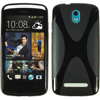 Silicone Case for HTC Desire 500 X-Style black