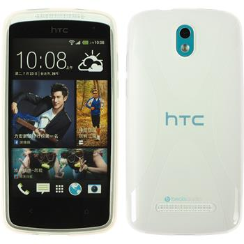Silicone Case for HTC Desire 500 X-Style transparent