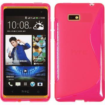 Silikon Hülle Desire 600 S-Style pink