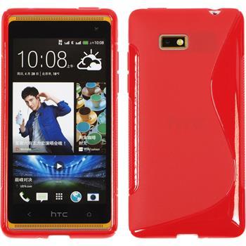Silikonhülle für HTC Desire 600 S-Style rot