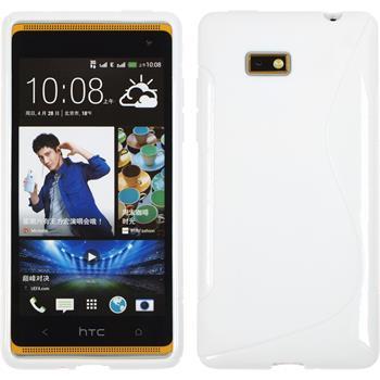 Silicone Case for HTC Desire 600 S-Style white