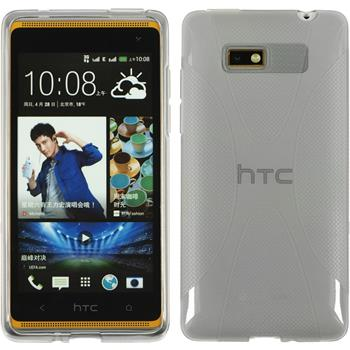 Silicone Case for HTC Desire 600 X-Style gray