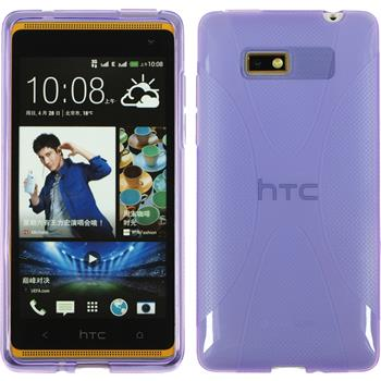 Silicone Case for HTC Desire 600 X-Style purple