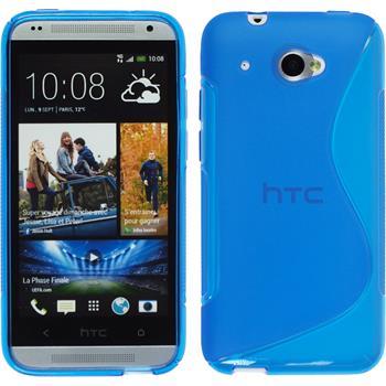 Silikon Hülle Desire 601 S-Style blau