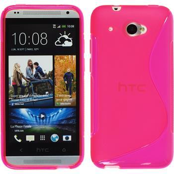 Silikon Hülle Desire 601 S-Style pink