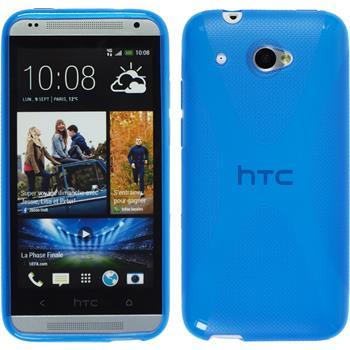 Silikon Hülle Desire 601 X-Style blau