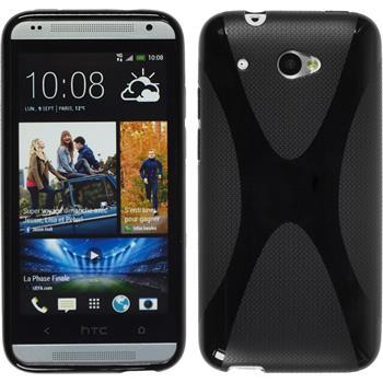 Silikon Hülle Desire 601 X-Style schwarz