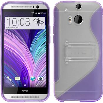 Silicone Case for HTC One M8  purple