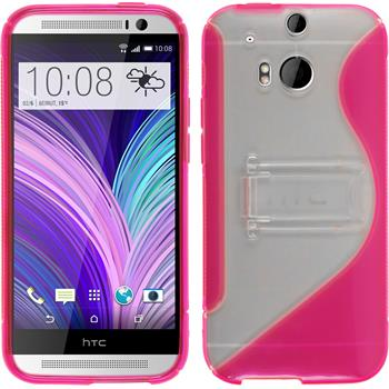 Silicone Case for HTC One M8  hot pink
