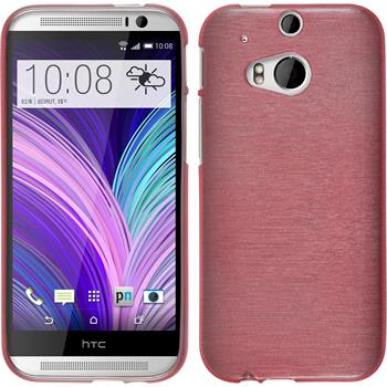 Silicone Case for HTC One M8 brushed pink