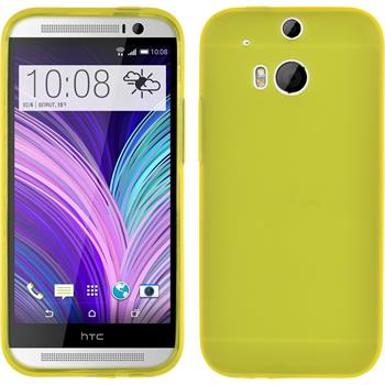 Silicone Case for HTC One M8 Dustproof yellow