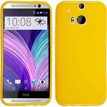 Silicone Case for HTC One M8 matt yellow