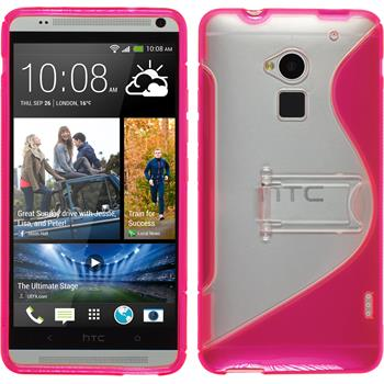 Silicone Case for HTC One Max  hot pink