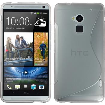 Silicone Case for HTC One Max S-Style gray